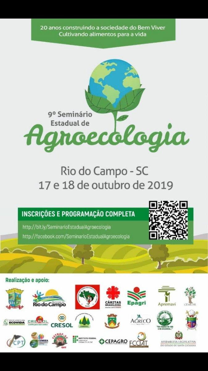 9° SEMINÁRIO ESTADUAL DE AGROECOLOGIA - SINDASPI-SC
